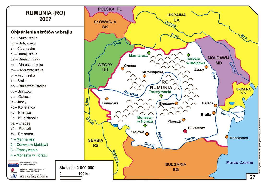 Sasiedzi polski na mapie