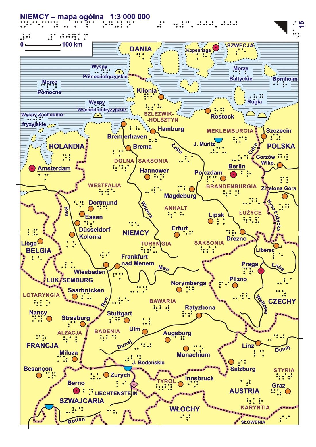Niemiec essen mapa Mapa Niemiec