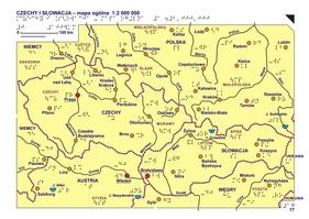 17 18 Czechy I Slowacja Mapa Ogolna I Rzezba Terenu