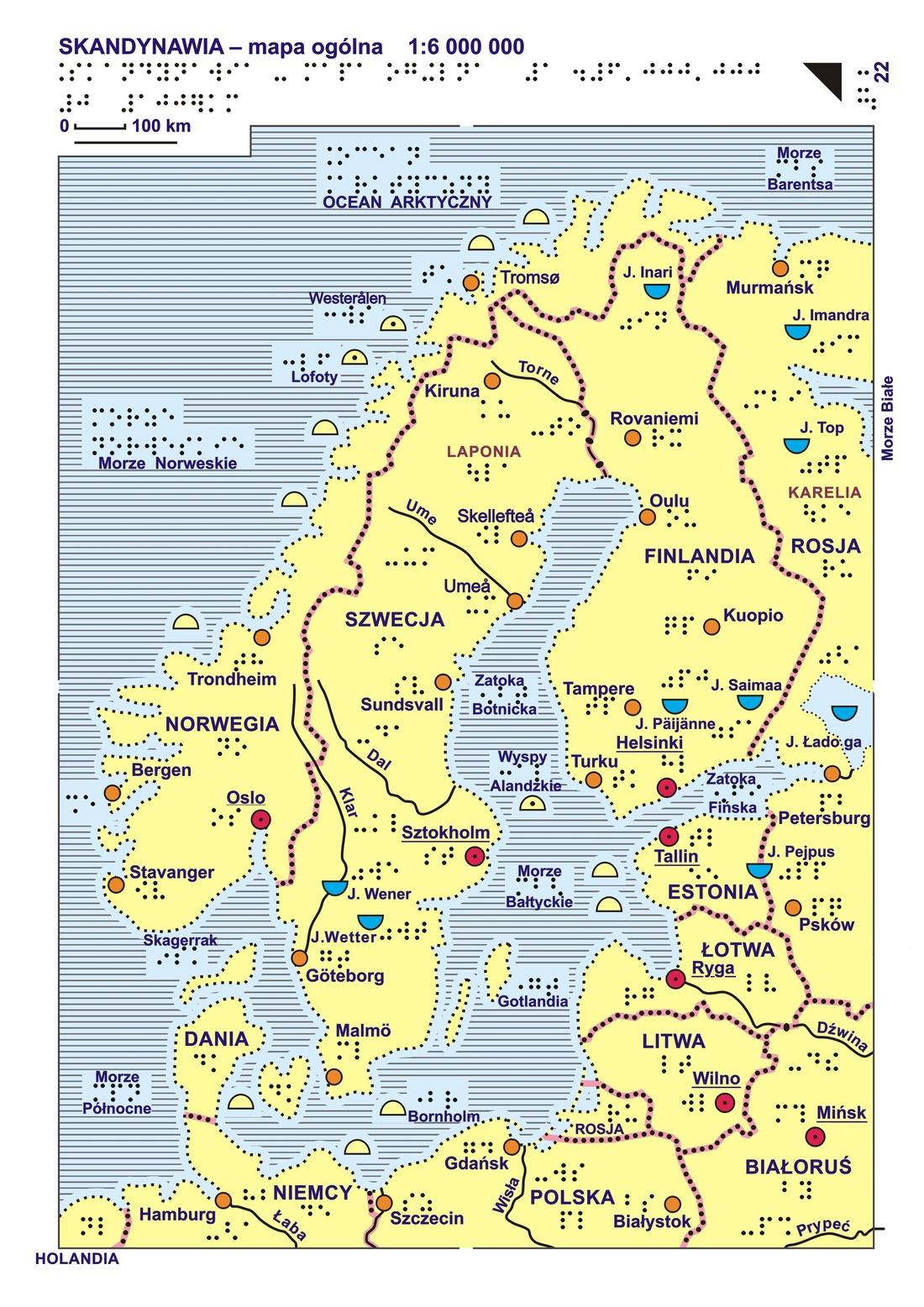 22 23 Skandynawia Mapa Ogólna I Rzeźba Terenu