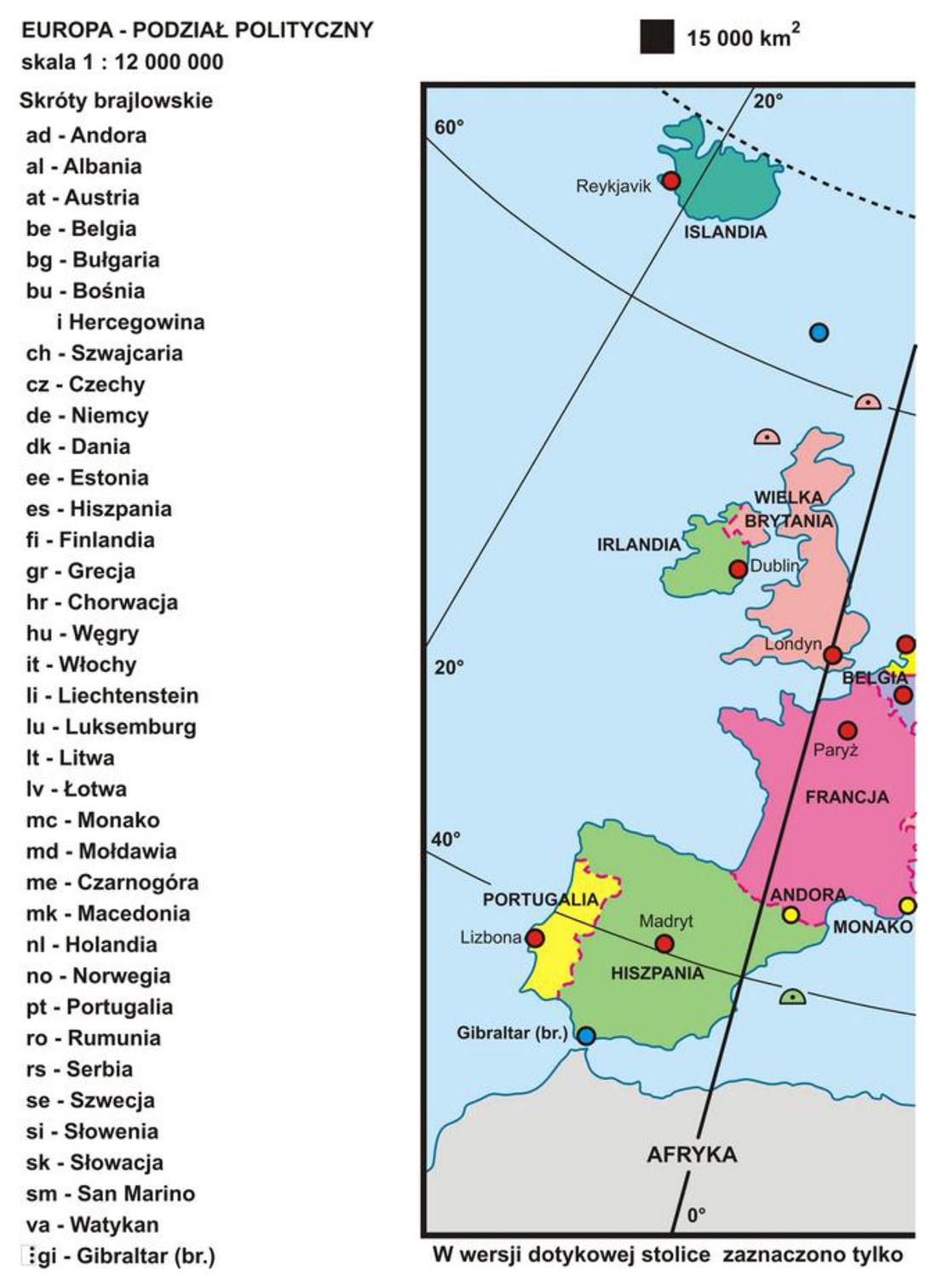 24 Europa Podział Polityczny