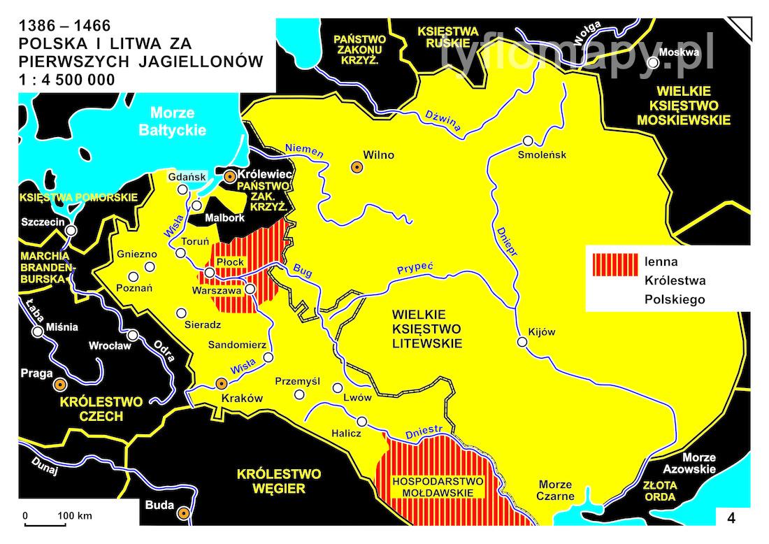4 1386 1466 Polska I Litwa Za Pierwszych Jagiellonow