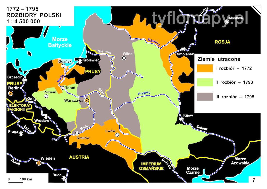 7 1772 1795 Rozbiory Polski